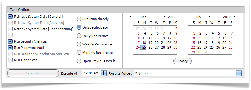 ESNC Security Suite - SAP Security Information Retrieval Scheduling
